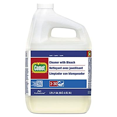 Comet 02291CT Cleaner with Bleach, Liquid, One Gallon Bottle, 3/Carton
