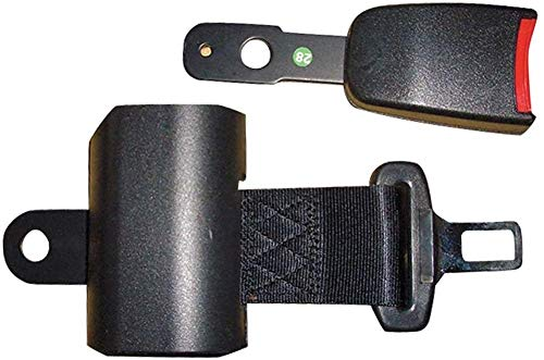 MYJZY Universal-Retractable Golf Cart Sicherheitsgurte Kit, selbstsichernd Zwei & Punkt Seatbelt Automatische Expansionstechnik-LKW Gabelstapler Seatbelt