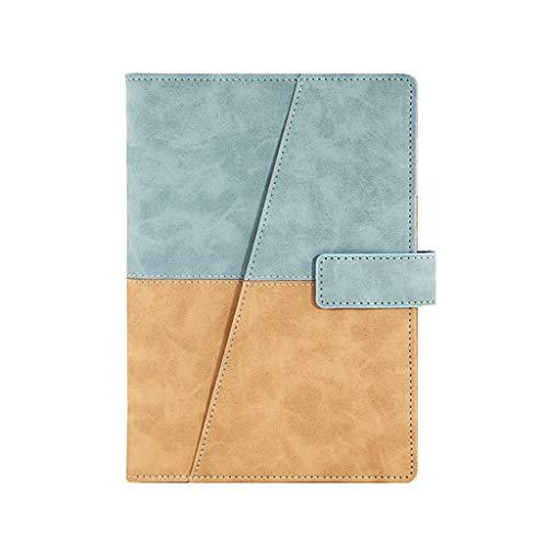 LYLY Cuadernos de taquigrafía Cuaderno Simple Hebilla Cuaderno Oficina Negocio Oficina Cuaderno de Trabajo Registro Cuero Suave 200 páginas Marrón Oficina y papelería