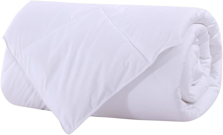 Royal Bedding Abripedic Bamboo Fiber Filled Blanket, Down Alternative Duvet Insert, 100% Cotton Shell, Breathable, Hypoallergenic, Full Queen Size, White