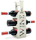 Weinregal aus Bambus – Weinregal für die Ausstellung von 3 klassischen Weinflaschen, exklusives und minimalistisches Design, tolle Geschenkidee – ideal für jeden Raum.