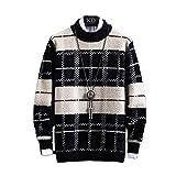 Suéter de los Hombres Ropa 2021 Invierno Grueso de Felpa Caliente para Hombre Plaid Suéteres de la Moda Clásico Cuello Redondo Hombres Pullover Warm Pull Homme