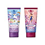 Duo Set de Crema de Manos de CCL Beauty (2 x 50ML)'Rainbow Loves Vanilla' y'Sunsets in Vegas', Ultra Hidratante, Calmante, Crema para Manos y Pies, Vainilla y Fragancias Dulces