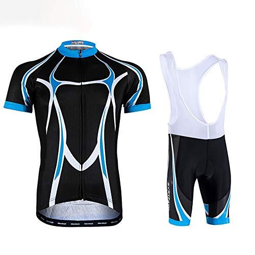 Hammock Cycling Jersey Suit,Men's Summer Road Bicycle Cycling Jersey Set for Men Breathable Quick Dry Clothing Full Zip Short Sleeve Bike Shirt Padded Sports Shorts