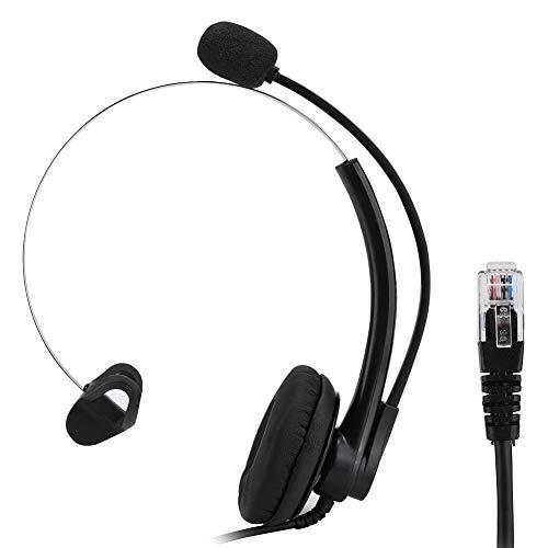 Headset met microfoon, Noise Cancelling Hoofdtelefoon met Clear Call Voice Ondersteuning Gehoorbescherming Functie voor Office Call Center