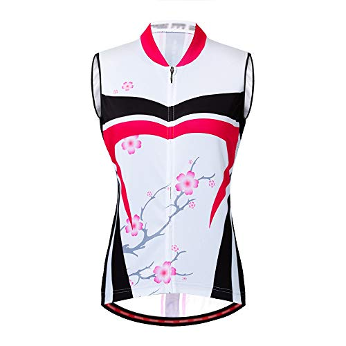 Maillot de ciclismo para hombre Jersey de ciclismo sin mangas con estampado...