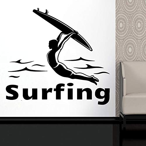 yaonuli Surf Logo Vinyl Muurtattoo Liefhebbers avontuur Ocean Waterfront Home Decor Decal