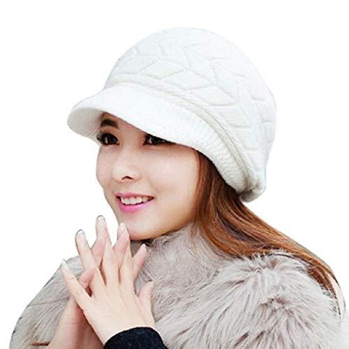 Tuopuda® Femme Hiver Chapeau Fille Tricoté Bonnet Béret Casquette/Bonnet Oreilles De Chat Chanvre...