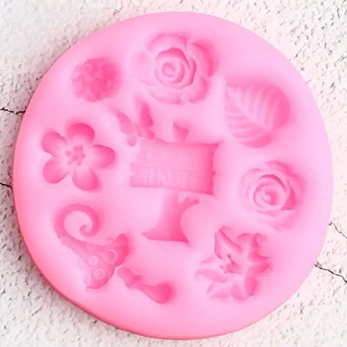 ARTAKA DIYHerramientas de decoración de Pasteles de cumpleañosMoldes de Silicona para jardín Hojas de FloresMoldes de Chocolate para Dulces yMagdalenas