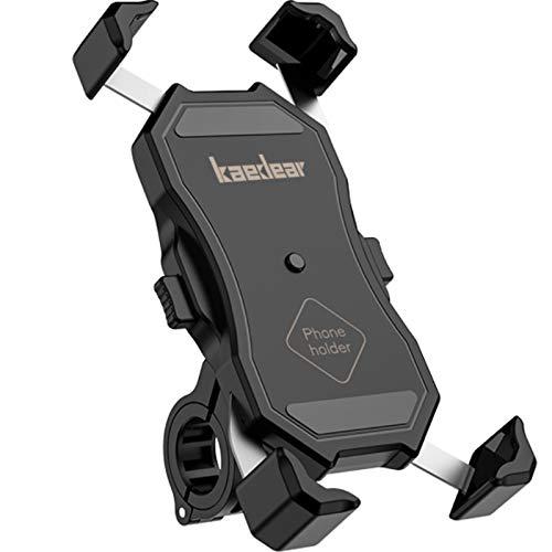 Kaedear(カエディア) バイク スマホホルダー バイク用 【 クイックホールド 】 携帯 ホルダー スマホ スタンドiphone galaxy android スマートフォン ミラー マウント 360度回転 スイッチ 原付 オートバイ (充電機能無し)