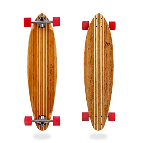 Hana Longboard Collection | 106,7 cm Longboard Skateboards | Bambus mit hartem Ahornkern | Cruising, Carving, Dancing, Freestyle (Small Pintail)
