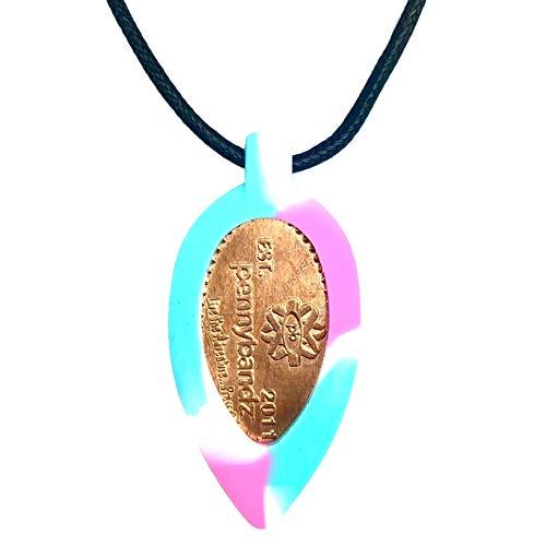 Pennybandz Wearable Souvenir Necklace for Press Penny (Cotton Candy)