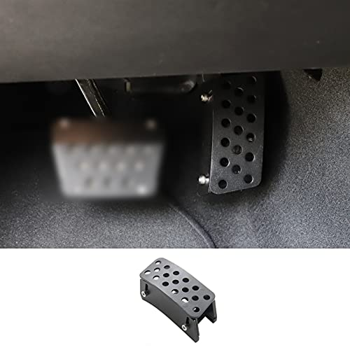 Hoolcar Anti-Slip Gas Pedal Extender Covers Adjustable Foot Rest Accelerator Pads for 2007-2020 Jeep Wrangler JK JKU JL JLU JT, 1PC