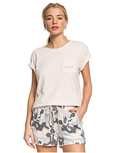 Roxy Damen Non-Denim Shorts Forbidden Summer - Gemütliche Sweatshorts für Frauen, Heritage Heather Darwin, M, ERJNS03263