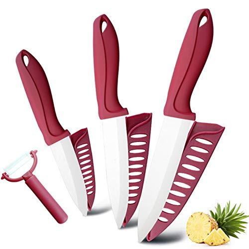Juego de cuchillos, Cuchillo de cerámica 3 4 5 5 pulgadas Cocina Cocinero UTILIADOR Slicer Rater Cuchillos De Cerámica Peeler Set Blanco Zirconia Blade Cutter Cutter Herramienta