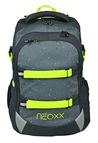 neoxx Active Schulrucksack I Schulranzen für die weiterführende Schule I Rucksack I Tornister für Mädchen und Jungen, nachhaltig produziert (Grau)