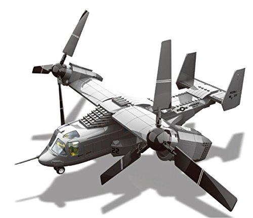 Wange Flugzeuge und Hubschrauber. Ziegelstein-Spielzeug-Set Modell im Maßstab 1:54