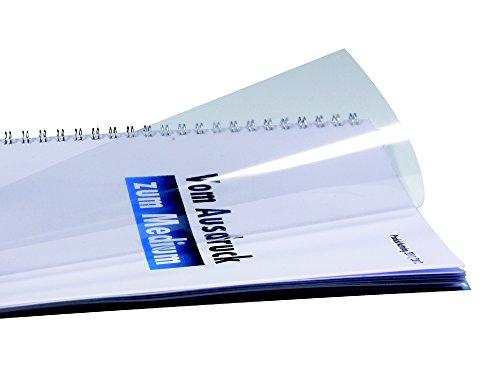 r & b Laminiersysteme UMT020T Deckblätter Klarsichtfolien, DIN A4, PVC, 0.20 mm stark, 100 Stück, transparent