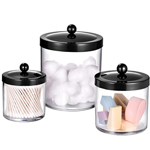 Premium Quality Apothecary Jars - Clear Plastic Storage Jars with Rust...