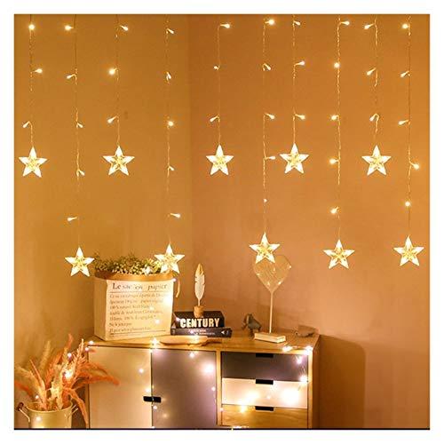 YCRCTC Noël lumières LED 3.5m Guirlande Lumineuse Rideau étoile décor Bells for la Maison Guirlande Lumineuse extérieure/intérieure String Festival Lumière (Color : Warm White Style2)