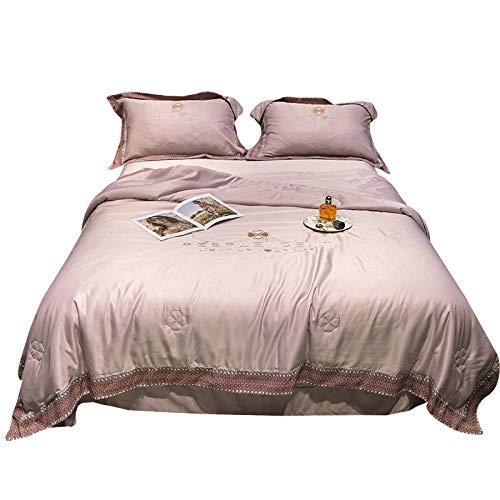 Meet Beauty Trapunta Letto Matrimoniale Quilt Estate di Seta Fresca a Quattro Pezzi   Seta  . con Una Trapunta, Un Foglio e Due pillowcasi-C_150x200cma Trapunta Estiva