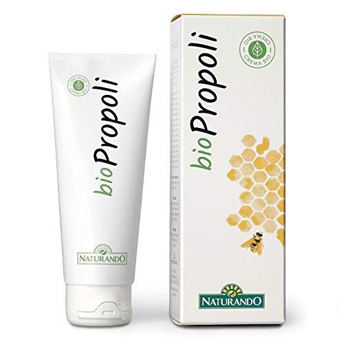 NATURANDO BIOCREMA PROPOLI 75ML Crema biologica cicatrizzante e disinfettante contro acne, eruzioni cutanee, scottature, ferite