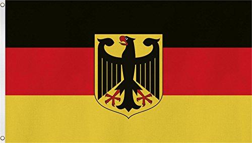 normani TOP QUALITÄT !! Fahne Flagge, Grösse: ca. 90x150 cm, Ordentliche Stoffqualität - Stoffgewicht ca. 110 gr/m2 Farbe Deutschland mit Adler
