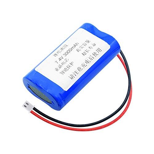 TTCPUYSA Grupo De Batería De Litio De 7.4v 3000mah 18650 (2 * 18650) + Conector Xh De 2.54mm, Puede para Linterna De Control Remoto DIY Power Bank