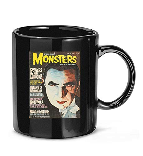 Famous Monster of Filmland Old Movie Film Dracula Frankenstein Bela Lugosi Coffee Mug Tea Cups