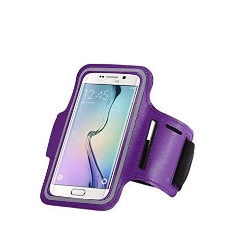 Brazalete Universal Impermeable Sport Gym Running for Samsung Galaxy S7 / S6 / S5 / S4 / S3 A5 A3 Funda for teléfono móvil Bolso Funda Llavero Brazalete (Color : Purple)