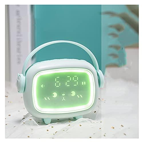 OUMYLFCNEC Despertador El Nuevo Reloj de Alarma Multifuncional Inteligente para Que los Estudiantes utilicen el Lindo artefacto de Despertador Luminoso electrónico para niños Radios Reloj (Color : B)