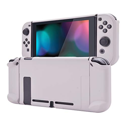 eXtremeRate PlayVital Back Cover for Nintendo Switch Console, NS Joycon Handheld Separable Protector Hard Shell, Soft Touch Dockable Protective Case for Nintendo Switch - Rhapsody Violet