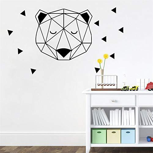fancjj Silly Bear Patrón Etiqueta de La Pared Estilo Nórdi