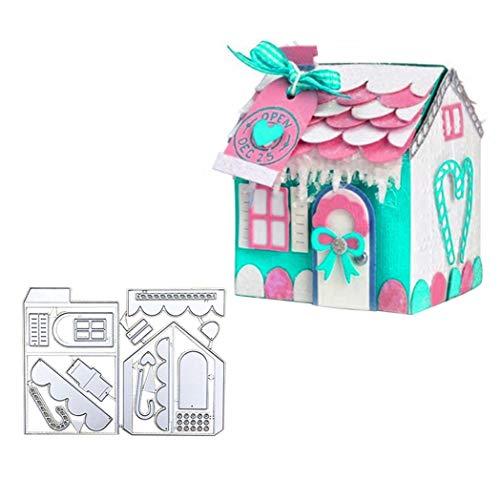 KimcHisxXv Stanssjabloon, eigen huis scrapbooking stempel stansstempel sjablonen voor scrapbooking, kaarten, knutselreliëf DIY make-ing verjaardagscadeau