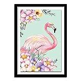 Cwanmh Mural de Pared Animal Print Lienzo Pintura Flamingo decoración home40X50