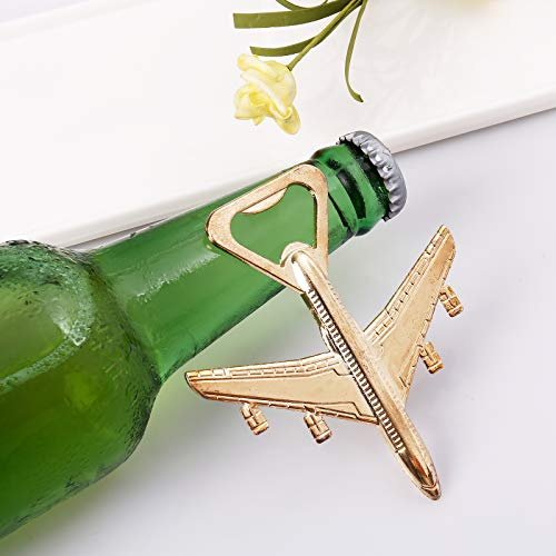 Airplane Bottle Opener - Aviation Gifts for Pilot - Airplane Decor - Gift for Veteran - Plane Beer Bottle Opener in Gift Box - Perfect Travel Gift (Airplane)