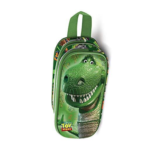 Karactermania 33889 Toy Story Rex-3D Doppelfedermäppchen Estuches 22 Centimeters Verde (Green)