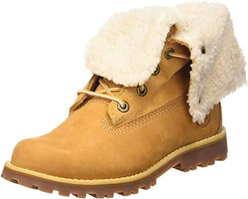 Timberland Unisex-Kinder 6 In Premium Waterproof Shearling Lined Klassische Stiefel, Gelb (Wheat Nubuck), 38 EU