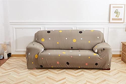 Funda de Sofá Nuevo Look 1 2 3 4 Plazas Puntos de Color Impresas Cómodo y Refrescante Fundas de Sofa Elasticas Antideslizante Forros para Sofas 4 plazas: 235-300 cm