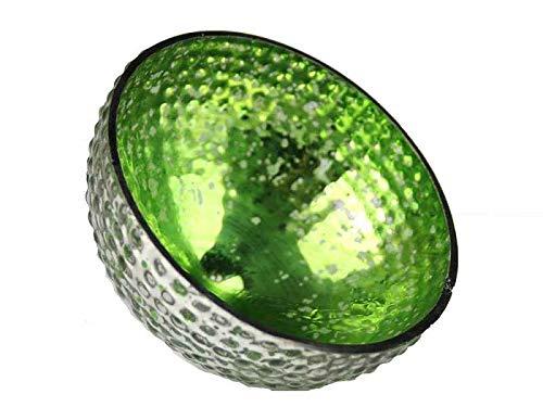 itsisa Glas Schwimmschale rund grün, D: 8cm - Schwimmkerzen, Schwimmlicht, Tischdeko, Teelichthalter