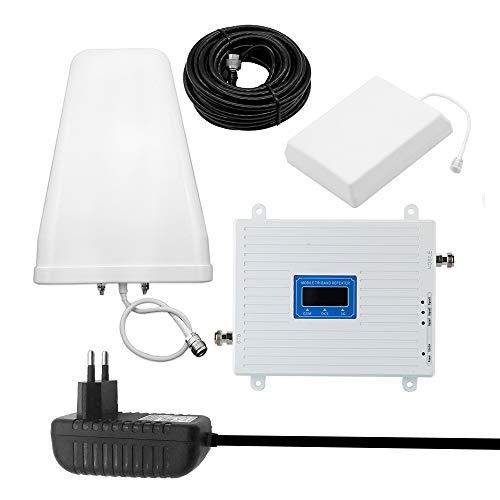 KKmoon 100-240 V Tri Band Amplificatore 900 1800 2100 GSM DCS WCDMA 2G / 3G / 4G LTE Kit Ripetitore Intelligente Ripetitore di Segnale Universale