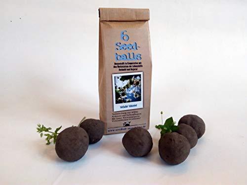 Die Seedball-Manufaktur 6er Seedballs Wilde Wiese, Natur mit Einer bunten wildblumenmischung