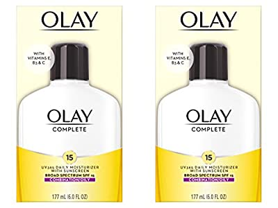 Olay Complete Lotion All Day Face Moisturizer for Combination/Oily Skin with SPF 15, 6 Fl Oz. Procter & Gamble - HABA Hub Face Moisturizer by Olay (Pack of 2)