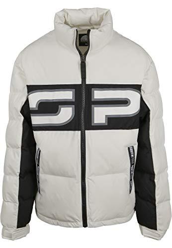 Southpole Herren Puffer Winterjacke SP Jacket, Weiß, XS