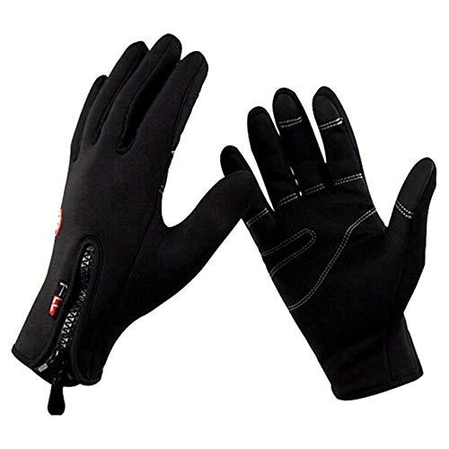 Bruce Dillon Touched Screen Gloves Winter Men Women Guantes Windproof Male Anti-Skid Glove Waterproof Full Fingers Warm Mittens - G016Style 2 Black,XXL