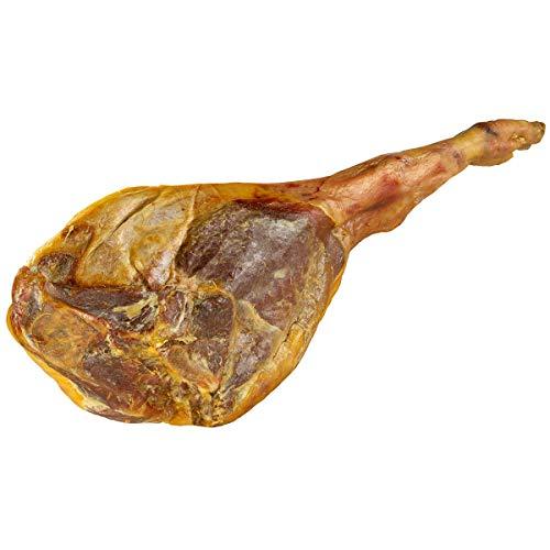 4,1 kg Original Paleta Serrana Schinken Vorderkeule spanischer Serranaschinken geräuchert 10 Monate luftgetrocknet