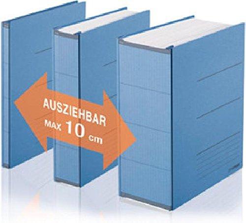 Platzspar-Ordner ZeroMax blau ausziehbare Rückenbreite von 1-10cm(Liefermenge=2)