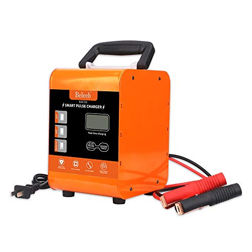 Beleeb Battery Charger 12V/20A 24V/10A Trickle Charger Smart Automatic Battery Charger for Car Motorcycle Boat Marine Lawn Mower SLA ATV RV SUV Wet AGM Gel Cell Lead Acid Battery