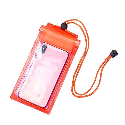 RUMUI Bolsa Impermeable para teléfono, Bolsa Seca Universal sellada de 3 Capas para teléfono móvil con cordón, Funda Transparente para Nadar a la Deriva