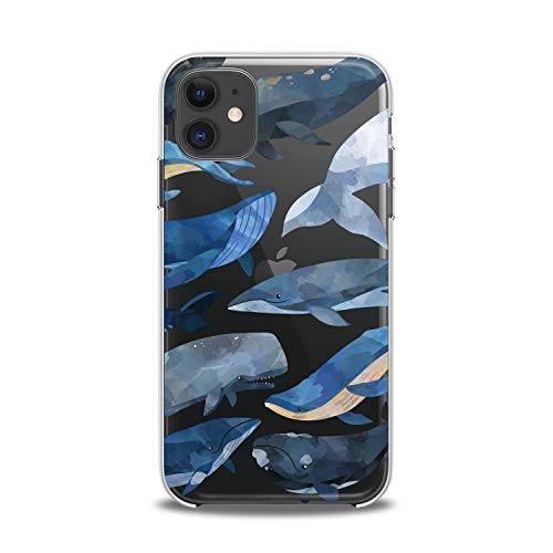 Lex Altern Case Compatible with iPhone 12 Mini 5G 11 Pro Xs Max Xr 8 X 7 Plus 6 SE 5 Soft Smooth Kawaii Phone Lux Kids Girls Design Cover Print AnimalTheme Clear Whale Slim fit Lightweight Art Women